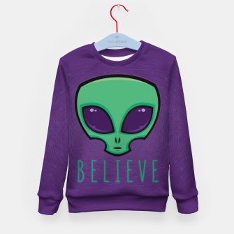 Miniatur Believe Alien Head Kid's sweater, Live Heroes