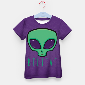 Miniatur Believe Alien Head Kid's t-shirt, Live Heroes