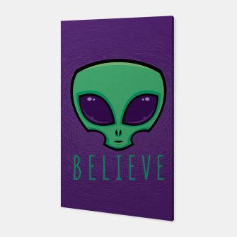 Miniatur Believe Alien Head Canvas, Live Heroes