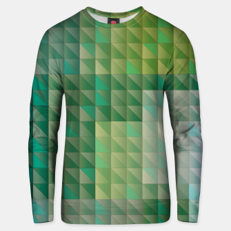 Thumbnail image of Geometric green triangles pattern Unisex sweater, Live Heroes
