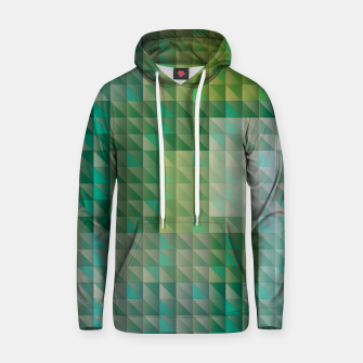 Thumbnail image of Geometric green triangles pattern Hoodie, Live Heroes