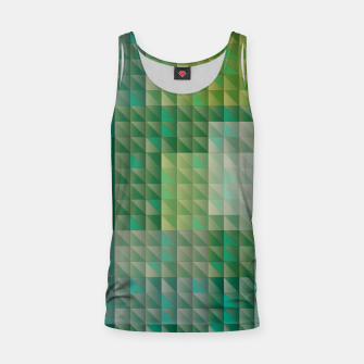 Thumbnail image of Geometric green triangles pattern Tank Top, Live Heroes