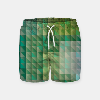 Thumbnail image of Geometric green triangles pattern Swim Shorts, Live Heroes