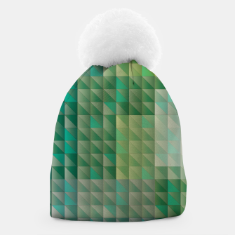 Thumbnail image of Geometric green triangles pattern Beanie, Live Heroes