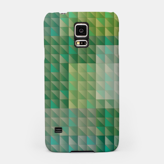 Thumbnail image of Geometric green triangles pattern Samsung Case, Live Heroes