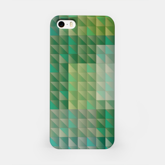 Thumbnail image of Geometric green triangles pattern iPhone Case, Live Heroes