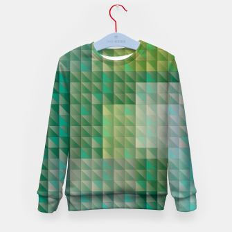 Thumbnail image of Geometric green triangles pattern Kid's sweater, Live Heroes