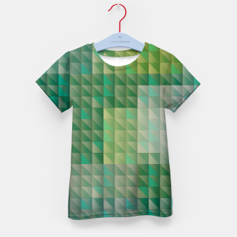 Thumbnail image of Geometric green triangles pattern Kid's t-shirt, Live Heroes