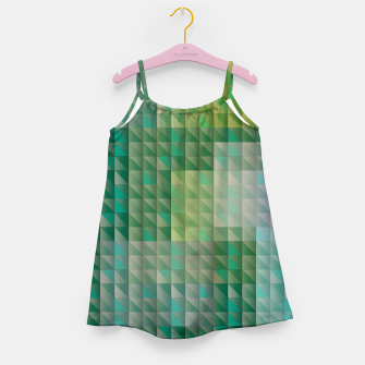 Thumbnail image of Geometric green triangles pattern Girl's dress, Live Heroes