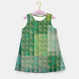 Thumbnail image of Geometric green triangles pattern Girl's summer dress, Live Heroes