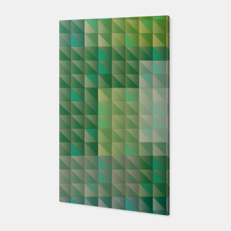Thumbnail image of Geometric green triangles pattern Canvas, Live Heroes