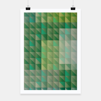 Thumbnail image of Geometric green triangles pattern Poster, Live Heroes