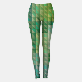 Thumbnail image of Geometric green triangles pattern Leggings, Live Heroes