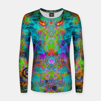 Thumbnail image of Dragon Smoke (psychedelic, visionary) Women sweater, Live Heroes