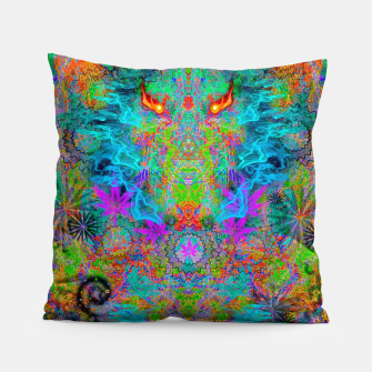 Miniatur Dragon Smoke (psychedelic, visionary) Pillow, Live Heroes