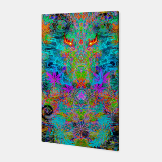 Miniatur Dragon Smoke (psychedelic, visionary) Canvas, Live Heroes
