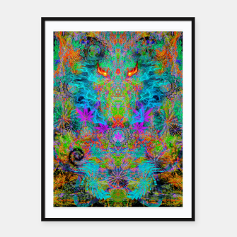 Miniatur Dragon Smoke (psychedelic, visionary) Framed poster, Live Heroes