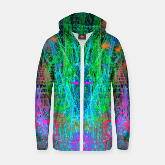 Miniature de image de The Crystalline Androgyne (visionary, surreal, psychedelic) Zip up hoodie, Live Heroes