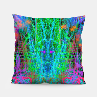 Miniature de image de The Crystalline Androgyne (visionary, surreal, psychedelic) Pillow, Live Heroes