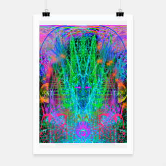 Miniatur The Crystalline Androgyne (visionary, surreal, psychedelic) Poster, Live Heroes