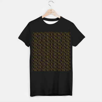 Miniatur Simple Gold Pattern - 03 T-shirt regular, Live Heroes