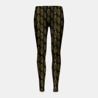 Simple Gold Pattern - 03 Girl's leggings Bild der Miniatur