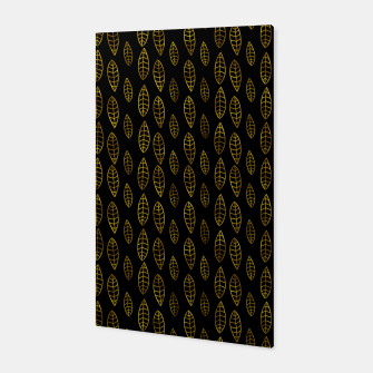 Simple Gold Pattern - 03 Canvas Bild der Miniatur