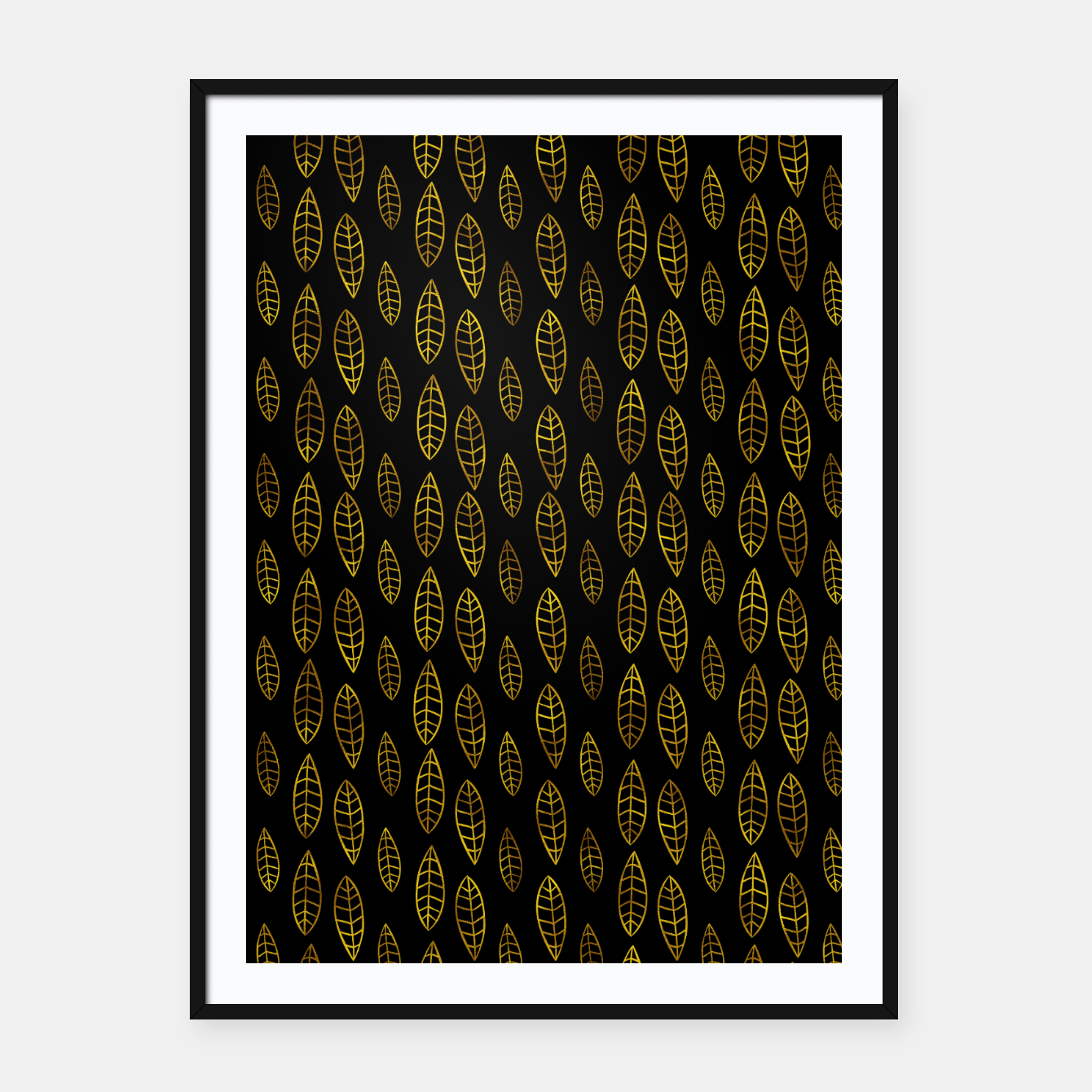 Foto Simple Gold Pattern - 03 Framed poster - Live Heroes