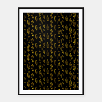 Miniatur Simple Gold Pattern - 03 Framed poster, Live Heroes