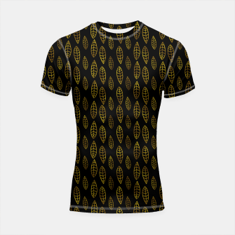 Miniatur Simple Gold Pattern - 03 Shortsleeve rashguard, Live Heroes