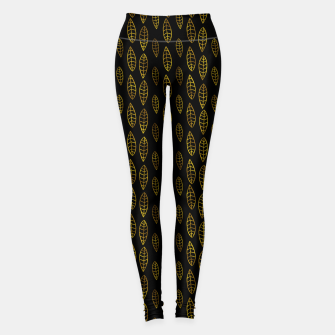 Simple Gold Pattern - 03 Leggings Bild der Miniatur