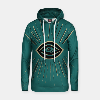 Miniatur Evil Eye Gold Black on Teal #1 #drawing #decor #art Kapuzenpullover, Live Heroes