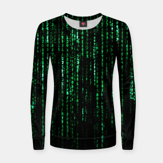 Thumbnail image of The Matrix Code Women sweater, Live Heroes