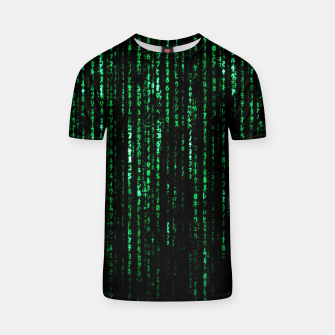 Thumbnail image of The Matrix Code T-shirt, Live Heroes