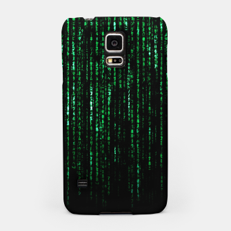 Miniatur The Matrix Code Samsung Case, Live Heroes