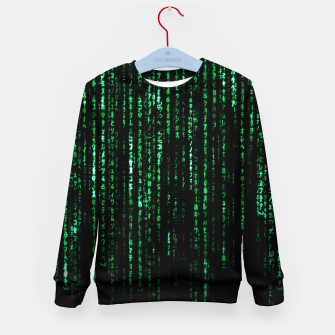 Thumbnail image of The Matrix Code Kid's sweater, Live Heroes
