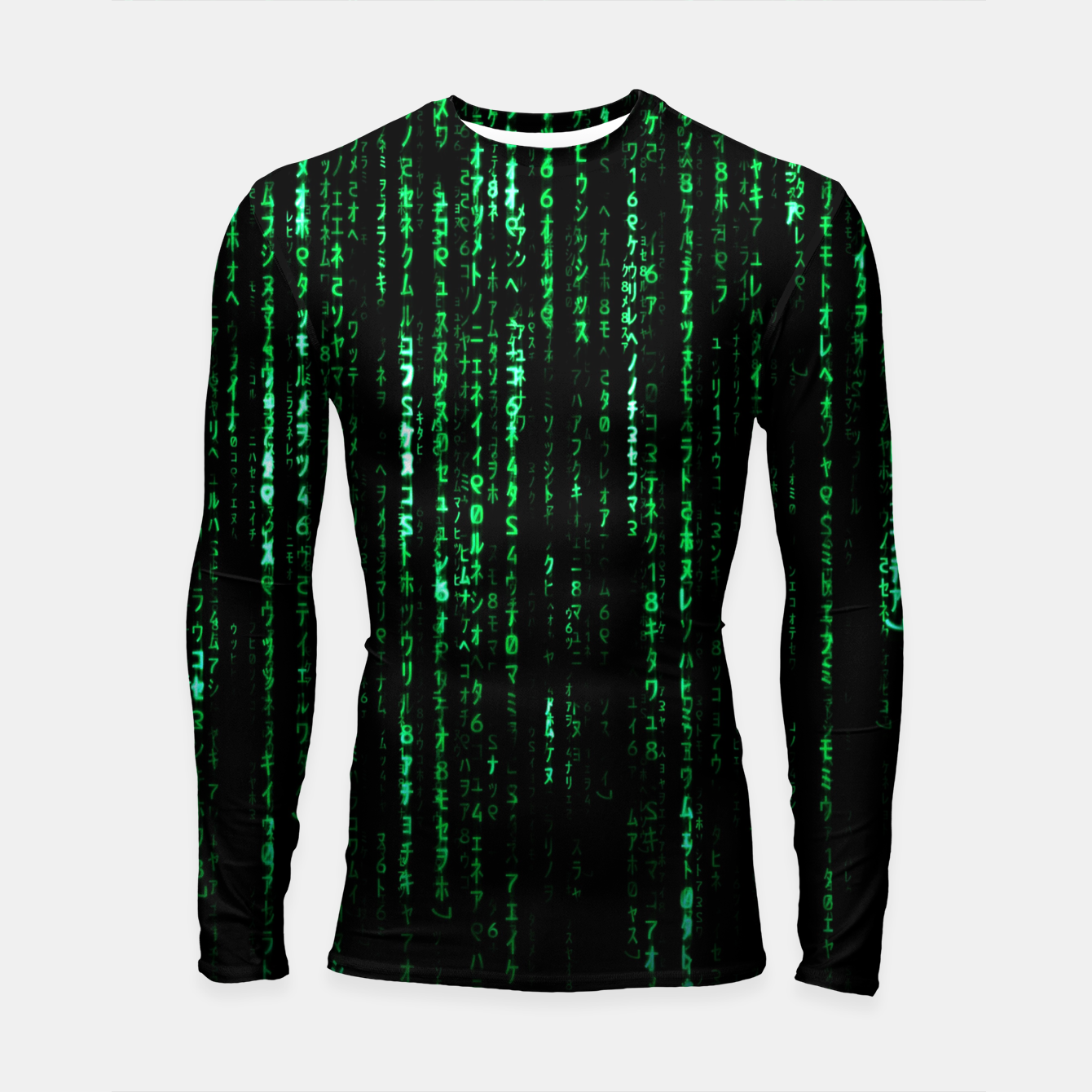 Image of The Matrix Code Longsleeve rashguard  - Live Heroes