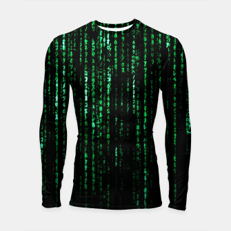 Thumbnail image of The Matrix Code Longsleeve rashguard , Live Heroes