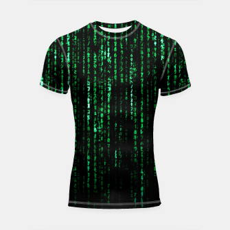 Miniatur The Matrix Code Shortsleeve rashguard, Live Heroes