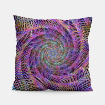 Thumbnail image of Spiral Fractal Pillow, Live Heroes