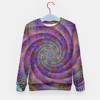 Thumbnail image of Spiral Fractal Kid's sweater, Live Heroes