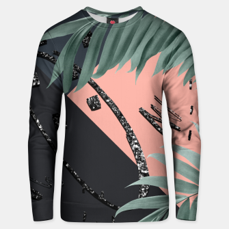 Miniatur Night Palms Cali Vibes Abstract Glitter Glam #3 #tropical #decor #art Unisex sweatshirt, Live Heroes