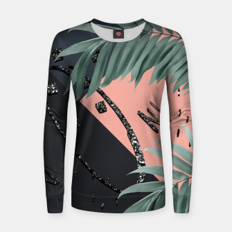 Miniatur Night Palms Cali Vibes Abstract Glitter Glam #3 #tropical #decor #art Frauen sweatshirt, Live Heroes