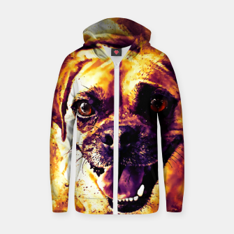 Thumbnail image of happy pug dog wsls Zip up hoodie, Live Heroes