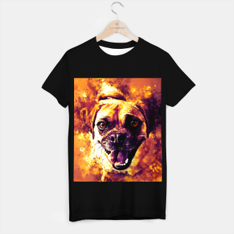Thumbnail image of happy pug dog wsls T-shirt regular, Live Heroes