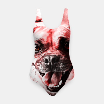 Thumbnail image of happy pug dog ws2s Swimsuit, Live Heroes