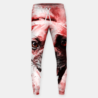 Thumbnail image of happy pug dog ws2s Sweatpants, Live Heroes