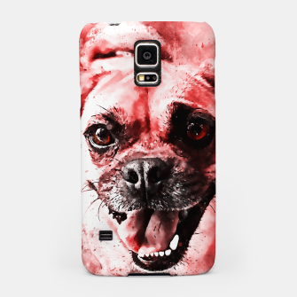 Thumbnail image of happy pug dog ws2s Samsung Case, Live Heroes