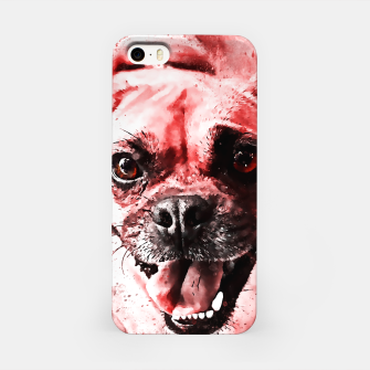 Thumbnail image of happy pug dog ws2s iPhone Case, Live Heroes