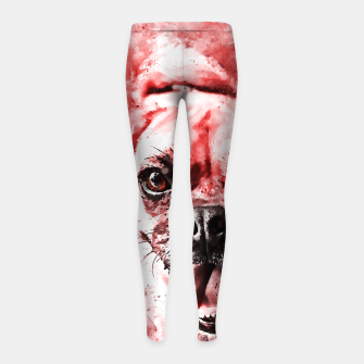 Thumbnail image of happy pug dog ws2s Girl's leggings, Live Heroes
